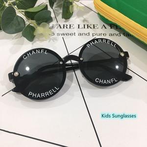 Arrefecer de óculos de sol Crianças Crianças protetor solar óculos redondos com Letter Printing for Boy e Girl Fashion