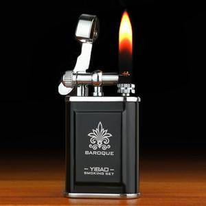 creative wheel retro kerosene metal carving lighter vintage trench Cigarette petrol Lighter naked flame for collection decorative gift k0350