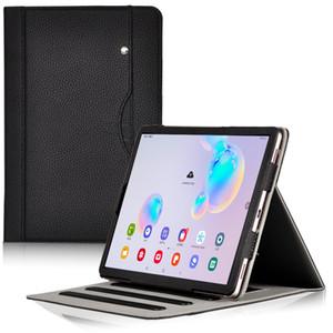 El Kay ile Samsung Galaxy Tab S6 10.5 SM-T860 SM-T865 T860 T865 Tablet için Standı Case Lüks İş Kitabı Kapak çevirin