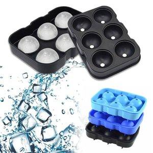 Сфера Ice Mold Ice Balls Maker Big Ice Cube Лотки 6 Cell Виски очки Большой круглый Spheres многоразовый