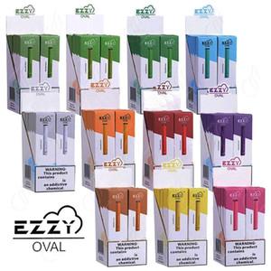 Plus récent EZZY OVALE jetable Vape Pen dispositif Starter Kit 280mAh Batterie de 300Puffs pods Des cartouches rempli système Vaporizer eCig vapeur
