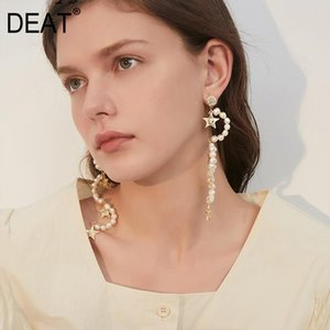 Women Pearls Star Irregular Personality Earrings New Temperament Fashion Tide All-match Spring Autumn 2019