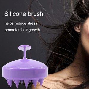 All'ingrosso femminile testa da bagno massaggio pettine morbido 5 colori in silicone donne spazzola per capelli massaggio portatile pet cane rimozione dei capelli pennello BH0640-2 TQQ