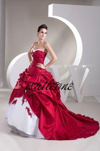 2019 Princesa costume vestido de baile Lace vermelho feito Prom Party Dresses vitoriana Masquerade Vestido Quinceanera vestido Pageant Vestidos Classy