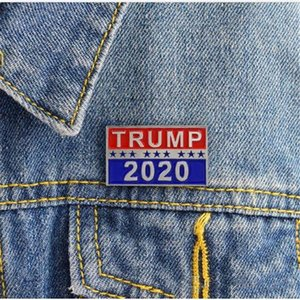 Trump 2020 Brooches Designer Presidential Election Broches métalliques Broches de luxe Bijoux Femme Homme Party Favor cadeaux TF5E Brooches