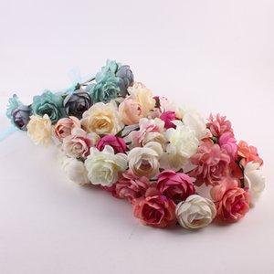 10 pcs banda europeia e americana de cabelo de flores da moda Boémia bride Tire uma foto Headdress turismo à beira-mar garland P-1