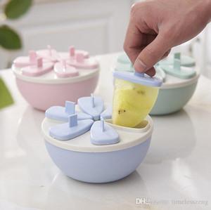 Été réutilisable crème glacée Mold Boîte cubes Plateau Glacé Popsicle Moisissures Ice Cube Maker Ice-Lolly Mold cuisine Outils gros bateau libre