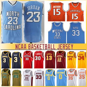 NCAA LeBron Durant 12 Ja 23 Michael Morant Doncic Iverson Curry Butler Harden College Basketball Jersey Williamson Zion