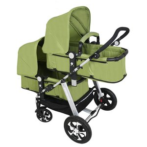 Babyfond Twin Baby Stroller Can Sit And Lie The High Landscape Light And Shock Proof Folding Double Stroller