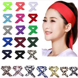 Sports basquete hairband tênis Yoga cabeça de fitness em execução suor wicking secagem rápida do suor banda de absorção YYA78