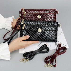 Fashion Women Handbag Shoulder Bag PU Leather Wallets Ladies Zipper Purse Trendy Clutch Handbag Outdoors Travel Credit Holder Bags Top Sale
