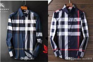 2020 nos marca negócio fina camisa xadrez, designer de moda marca tamanho de manga comprida de algodão casuais camisa tarja camisa cooperativa m-4xl # 030