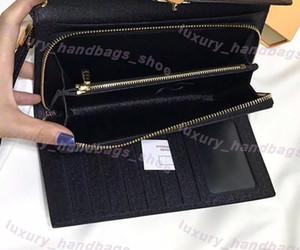 neue Ankunft lange Art Multifunktionsgeldbeutel Designer-Handtasche Luxus-Handtasche Designer Original-Lederhandtasche Wallet Clutch Bags 58102
