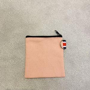 20шт кошельки для монет DIY унисекс пустой простой хлопок холст короткие маленькие сумки красная молния повседневные кошельки кейсы для ключей