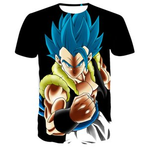 2020New men's Dragon Ball short-sleeved T-shirt Dragon Ball 3D digital printing anime summer round neck children's Wukong top XXS-6XL
