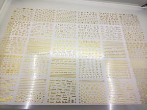 30 개 스타일 메탈릭 골드 3D 네일 스티커 문 스타 기하학적 깃털 자기 접착제 네일 아트 전송 스티커 30 매 / 53 NL52