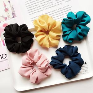 Мода популярных мульти волос Accessary конфеты цвет шифон с большой лента для волос гибкость волос конструкции смешивания диапазона Аксессуары Изысканный волос