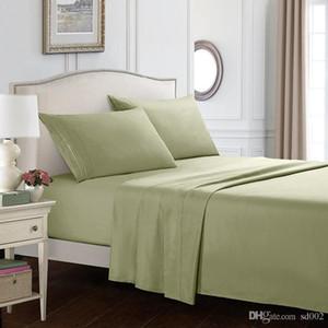 Saf Renk Dört Adet Suit Reaktif Baskı Boyama Yorgan Kapak Ev Tekstili Yastık Kılıfı Yatakta Makaleler Kentsel Şerit Desen 60 3wo3b1