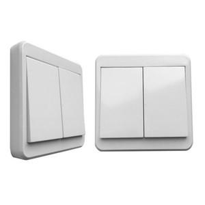 50PCS 433MHZ 리모콘 벽 패널 스위치 버튼 1 2 3 1 2 3 CH 점착 RF 송신기 리모콘