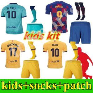 2019 2020 Barcellona maglie di calcio per bambini kit di ragazzi giovani 19 uniformi della camicia 20 di calcio