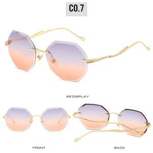 Безрамное sunglasse Безрамное очки для мужчин и женщин Модные солнцезащитные очки Нерегулярные Перевернутые Солнцезащитные очки Очки для зрения онлайн KLk5