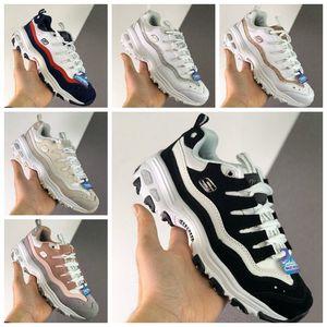 Мода Skechers 1,5 Дизайнеры Спорт Низкие Старые папа Женская обувь для девочек Черный Розовый Белый Кроссовки Спортивные кроссовки Athletic де Chaussures