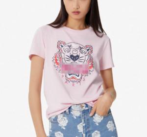 Frauen designer Luxuxdame-Sommer-T-Shirts Klassiker Tiger Pullover mit kurzen Ärmeln Female Brandshirt Top Tees Mädchen Hemden b2 B105591L