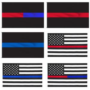 Blu Red Stripe l'America bandiera nazionale di poliestere panno Muticolor nazione USA Bandiere Sfondo nero bandiere vendite calde 5DS C2