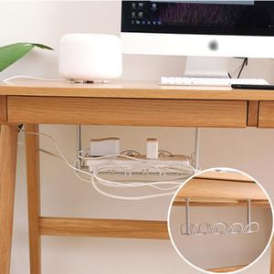 Sub-mesa armazenamento Rack tabela inferior Tomada Titular Hanging rack linha de chegada Desk Para Cozinha Home Office da parede de sucção