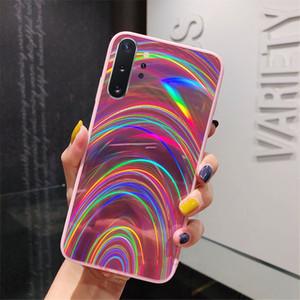 Populärer Regenbogen-Spiegel-Kasten für Samsung-Telefon-Abdeckung Galaxy A30S A20 A9 A7 2018 S8 S9 S10 S20 Ultra-Hinweis