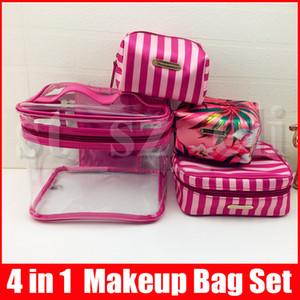 4 1'de Kozmetik Çanta Tatil Koleksiyonu Çanta Sınırlı Üretim Çanta 4pcs Makyaj / set Secrect Çiçekler Desen makyaj çantaları yüksek kaliteli