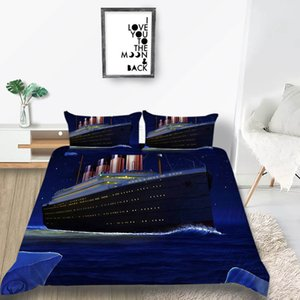 Croisière Literie bateau Titanic Set Creative couette artistique Couverture Starry Sky King Reine double pleine simple lit double couverture avec Taie