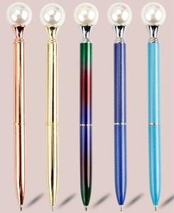 Nuevo metal creativo del bolígrafo de tinta negra de la perla grande bolígrafos de suministros de oficina Papel de la escuela