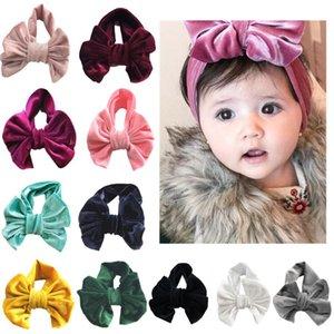 Crianças grandes acessórios Curva dourada de veludo cabelo do bebê banda férias de cabelo anel de crianças bowknot Princesa hairdress 2018 novas crianças de luxo