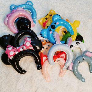 Bir Net Kırmızı Sevimli Karikatür Balon Hairband Çocuk Doğum Kafa Tema Parti Sahne Dekorasyon Malzemeleri