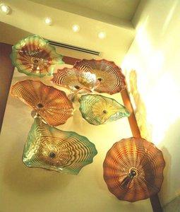 Fait sur mesure décorative forme de fleur de Murano Art Glass Applique murale moderne lumière verre soufflé Wall Art Fait sur mesure Plaques