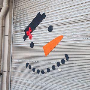 DIY Christmas Snowman Decoration Outdoor Decoration Dress Up Garage Door Door Old Man Elk Bow Hat