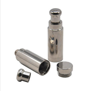 Snuff Pipe Pure Steel Steel Pipe Fine Snuff Pot extraíble y fácil de limpiar