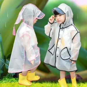 . Girl boy baby conjoined whole Cloak Body clothes body clothes child poncho kid raincoat waterproof kindergarten non-disposable baby