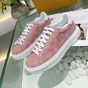di FashionDesigner donne di lusso TIME OUT Sneakers Articolo no 1A5U0S abbellita Monogram floreale modo casuale comodo Wild Women Sneakers