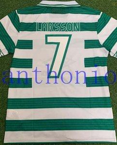 1998/99 Celtics 레트로 축구 유니폼 그린 2005/06 빈티지 축구 셔츠 라스슨 7 Lambert Viduka Moravcik Mjallby Blinker Size S-XXL 92/93