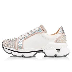 2020 Hottest Spikes Sock Shoes Red Bottoms Mens Sneaker Flat Men &#039 ;S High Top Lace -Up Studded Spikes Fashion Party Wedding Casual Snea
