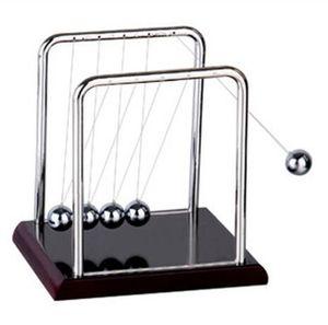Ball Balance início Fun Desenvolvimento Desk Toy presente Newtons Cradle Aço Física Ciência Pendulum Miniatures Decoração