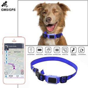 Hot Sale GPS Locator Hit Color Historical Track GSM WIFI LBS Waterproof Pet Dog Cat Anti-lost Mini Collar Tracker