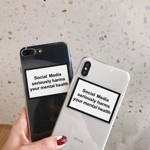 2020 جديدة فريدة من نوعها فون حالة الشخصية الفردية حالة وسائل الإعلام الاجتماعية شفاف TPU لينة الهاتف شل فون X XR 11 برو ماكس 6 7 8 زائد