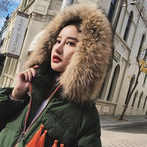 Winter Natural Fur Scarf Raccoon Fur Collar 70CM longth For Coat and Sweater