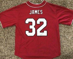 camicie Edgerrin James Arizona City squadra di calcio di rugby della città Baseball stile Jersey su ordinazione qualsiasi Numero Nome