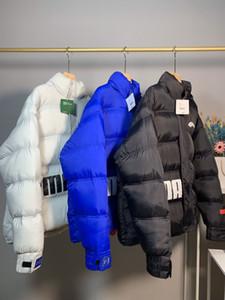 2020 Moda das mulheres dos homens casacos de inverno 3 cores para baixo Parkas com nervuras manga comprida com capuz Windbreakers COAT B100583W