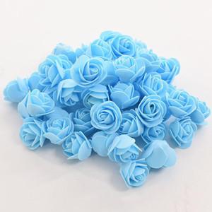 Rose Bär Simulations-Blumen-Schaum Rose Romantische Hochzeit Party Geschenk Valentinstag Blumen DIY Blase bärnhund DIY pe Blume LJJK1944