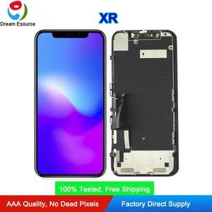 Cambio di vetro originale (ristrutturato) OEM originale FOG montato per LCD Touch iPhone XR Screen Display installato piastra metallica di trasporto